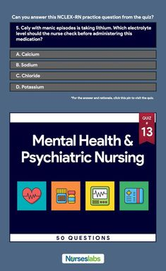 Lippincotts q review for nclex rn containing 6000 nclex questions mental health and psychiatric nursing nclex practice exam 13 fandeluxe Choice Image