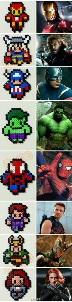 The Avengers - Marvel perler beads More