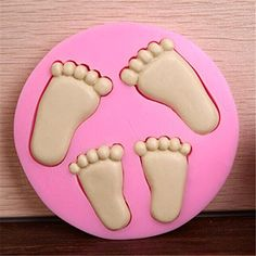 Cake Decorating Supplies 3D Baby Feet Silicone Fondant Mould Chocolate Sugarcraft Cake Clay Mold Baking >>> You can get more details by clicking on the image.