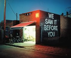 I have a photo exhibiting at We Saw It Before You in a few weeks in Melbourne. Come sus Opening September 18 / 5pm ~ 9pm Open 11am ~ 5pm / September 18 ~ 21 Tinning Street Presents Lot 5, Tinning...