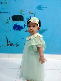 My little girl... Celebrate her 1st year.. Greendress