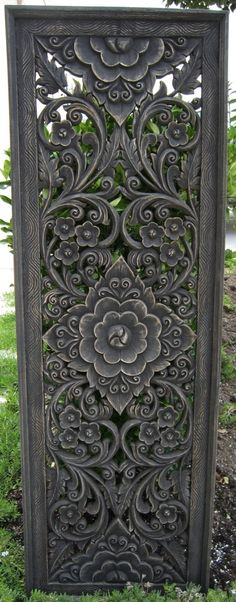 I love the original pinner's idea of using something like this for a bedhead.  Hand carved floral and vine panel from Thailand.
