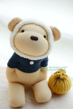 Grace--#367 sock Honey Bear(White)