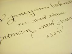 Address Calligraphy for your Invitations Wedding by zucchiniandco, $150.00