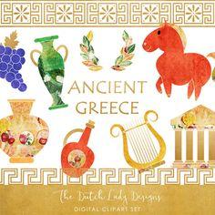 Greek Archeology Clipart Set - Ancient Greece Graphics - Greek Artefact Images - Colorful & Artistic - INSTANT DOWNLOAD - 22 .PNG Files https://etsy.me/2vutPC3 #greekclipart #ancientgreece #clipart #crafts #scrapbook #greece #archeology #trojanhorse #artefacts #history