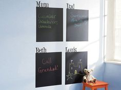 wall stickers chalkboards. Cool and of practical use.