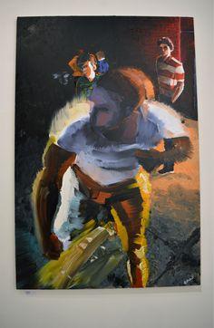 Raki FIght Oil on Canvas 100 x 150