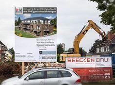 Bautafel für Bauvorhaben in Winsen, mit einer Größe von 3m x 4m.