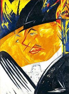 Portrait of MF Larionov by Natalia Goncharova