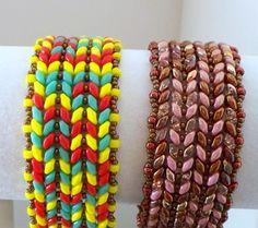 Tutorial Cirque Super Duo Herringbone Beaded Bracelet Pattern