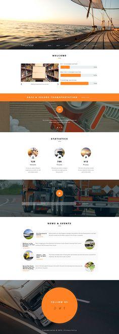 New monstroid Child Theme: Transportation WordPress Template