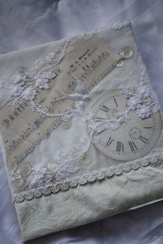Gorgeous tulle book cover with clock face