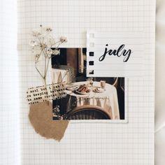 """kaylareads: """"my july page. Bullet Journal Inspo, Bullet Journal Writing, Bullet Journal Aesthetic, Bullet Journal School, Bullet Journal Ideas Pages, Art Journal Pages, Kunstjournal Inspiration, Art Journal Inspiration, Creative Journal"""