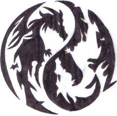 Tattoo dragon yin yang deviantart ideas for 2019 Tribal Tatoos, Tribal Forearm Tattoos, Yin Yang Tattoos, Body Art Tattoos, Finger Tattoos, Dragons Tattoo, Dragon Silhouette, Dragon Pictures, Dragon Tattoo Designs