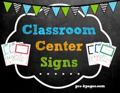 Printable Center Signs for preschool, pre-k, and kindergarten