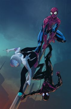 pryce14:parisalleyne:parisalleyne:Spiders Collab by ParisAlleyne  Spider-Gwen by usagi-kitMiles by jahnoylColours by pryce14  New spidey-collab!