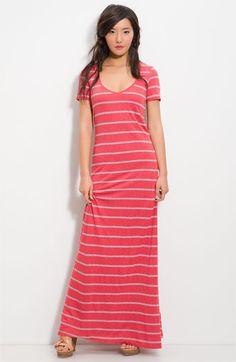 Splendid Stripe Column Maxi Dress