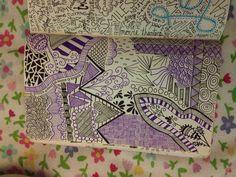 Purple and black doodle