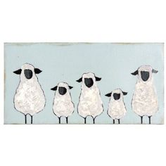 Provide a pastoral, soothing complement to your child's bedroom with the Studios Hand Painted Five Sheep Wood Wall Decor . This piece of wall. Ewe Sheep, Sheep Art, Bee Painting, Watercolor Paintings, Sheep Drawing, Sheep Illustration, Foto Picture, Sheep Paintings, Hand Painted Walls