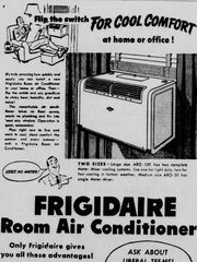 This ad for air conditioners ran in 1951. Air conditioning meant change! | Pass One Hour Heating & Air Conditioning | (618) 997-6471 | www.passonehour.com
