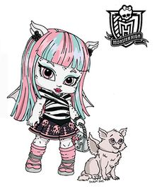 Baby Monster High Character Free Printable Coloring Pages