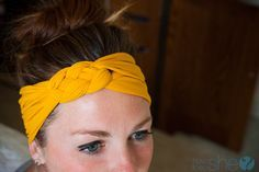"""Just made this out of my daughters sparkly tights that """"itched"""" her!! What a great way to use them!  Turn your Old Nylons into a Headband! 