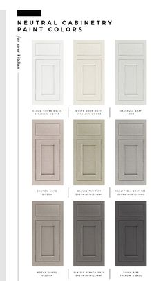 Paint Color for Cabinets Lovely My Favorite Paint Colors for Kitchen Cabinetry Room for Kitchen Paint Colors, Paint Colors For Home, House Colors, Paint Colors For Cabinets, Different Color Kitchen Cabinets, Colorful Kitchen Cabinets, Paint Colours, Neutral Colors, Home Decor Kitchen
