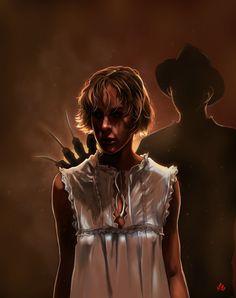 Tina and Freddy Krueger Horror Icons, Horror Films, Horror Art, Freddy Krueger, Robert Englund, Freddy's Nightmares, Slasher Movies, Horror Show, Best Horrors
