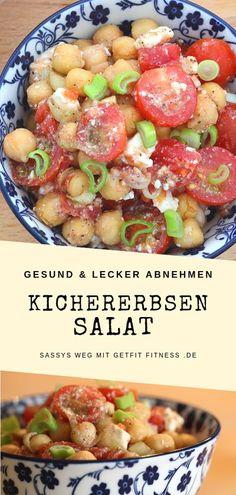 Raw Food Recipes, Diet Recipes, Healthy Recipes, Feta Salat, Couscous Salat, Chickpea Salad, Tzatziki, Healthy Nutrition, Clean Eating
