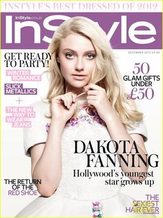 Dakota Fanning looks stunning on the cover of InStyle UK's December 2012 issue
