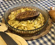 Magrets au four sur lit de pommes de terre