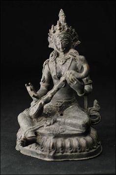 43121-仏教仏像「弁財天(サラスヴァティ)」