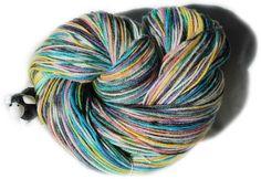 Panda Fingering Weight Sock Yarn - 60% Superwash Merino Wool, 30% Bamboo, 10% Nylon 4oz/113g/ approx 450 yds fingering weight yarn Colorway -