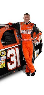 JEFF BURTON :) My fave driver love the orange & black!! He needs to stay wheaties :)