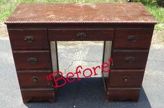 That's Not Junk...Refurbished Recycled Furniture: Emerald Green Desk