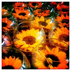 Labellum - Sunflower Bowls, designed by Labellum www.labellumflowers.com