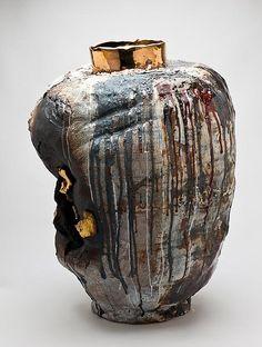 "Gareth Mason Mammon,  30"" H x 23"" W x 21"" D,  stoneware, Porcelain, Inclusions, Lustre"