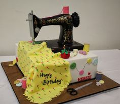 25 Awesome singer sewing machine cake tutorial images