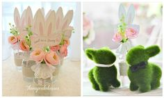 Zi Xuan's Chic Bunny Themed Party: Centerpiece