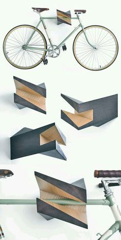 cool wooden bicycle rack