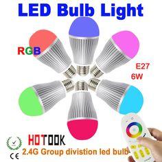 $23.50 (Buy here: https://alitems.com/g/1e8d114494ebda23ff8b16525dc3e8/?i=5&ulp=https%3A%2F%2Fwww.aliexpress.com%2Fitem%2F2-4G-RGB-E27-6W-LED-Group-Division-Bulb-light-SMD-RF-Remote-Control-lamp-indoor%2F1952774487.html ) 2.4G RGB E27 6W LED Group Division Bulb light SMD RF Remote Control lamp indoor lighting Brightness Adjustable  85~265V CE ROHS for just $23.50