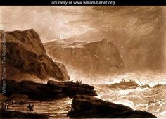 LIBER STUDIORUM. PART 5 ( 01 / 01 / 1811 ). PLATE 24. COAST OF YORKSHIRE, NEAR WHITBY. Etcher : J.M.W. Turner. Engraver : William Say.