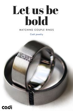 f8e8f3c239 Couples matching black and white Diamonds engagement rings