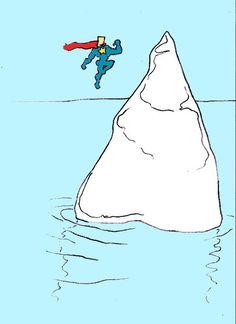 'SUPERMAN VERSUS ICEBERG' by Adam Beanish