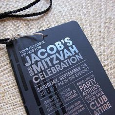 Your 13 year old son is a pretty big deal, so he will definitely need exclusive VIP access passes for an upcoming #BarMitzvah celebration! Sincerely Yours, Diane can create these lanyards in any material with any design or saying on them! Schedule an appointment with Diane herself today! (954) 421-9779