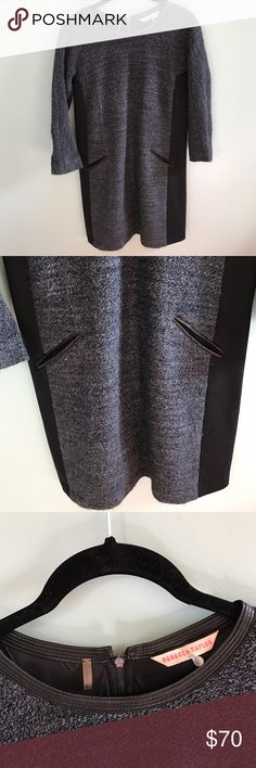 Rebecca Taylor Wool + Alpaca Black and Navy Dress A gorgeous Rebecca Taylor wool and alpaca blend navy and black dress. A perfect, chic dress for the quickly approaching fall and winter time. Size 6, great condition. Rebecca Taylor Dresses