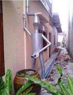 Funny Guy Drain Pipe water saver