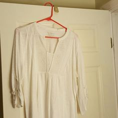 Soft white embellished top No stains Chico's Tops