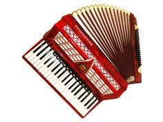 German Royal Standard, 120 Bass, 16 Registers, Case, Piano Accordion Instrument, 418