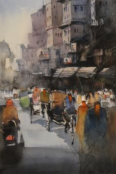 Nitin Singh is emerging indian watercolour artist, his work is reflection of his self expression through his watercolour paintings.